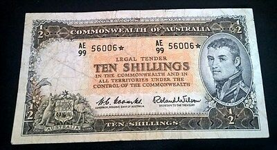 1961 Ten Shilling - Coombs/wilson  - *star Note* - *reserve Bank* - Fine