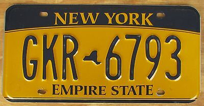 NEW YORK  EMPIRE GOLD license plate   2012  GKR 6793