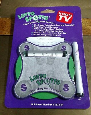 Lotto Spotto The Lottery Ticket Reader As Seen On TV New In Package FREE SHIP
