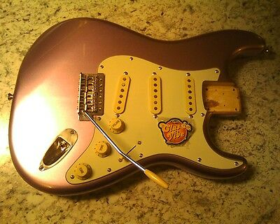 Squier classic vibe fully loaded guitar body really clean burgandy