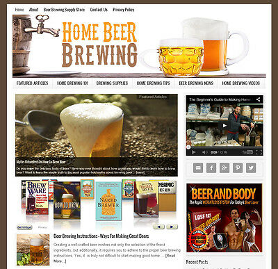 * HOMEBREWING BEER BREWING * blog website business for sale AUTO UPDATING