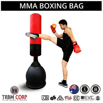 NEW 165CM Home Gym Boxing Bag Punching Target Dummy Free Standing Martial Arts