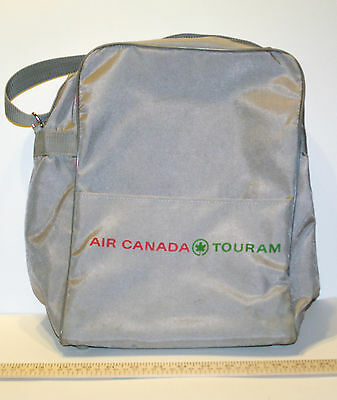 Retro 80-90s Air Canada Touram Flight/ Cabin Crew Carryon Bag Grey Nylon w/ Logo
