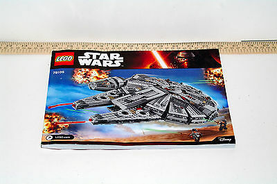 Lego Star Wars Milleneum Falcon #75105 Instructions Manual Only