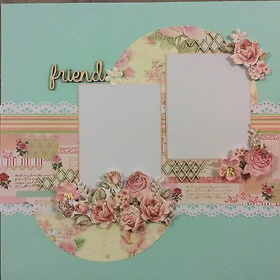 handmade scrapbook page 12 X 12 Friends Themed Layout
