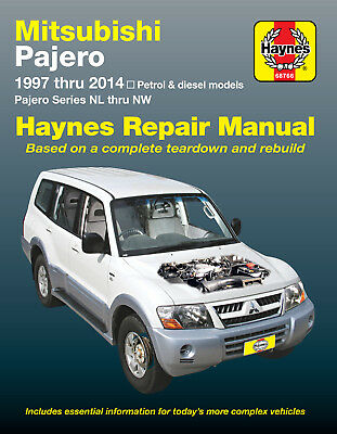Mitsubishi Pajero Petrol & Diesel 1997-2009 Workshop Repair Manual MPN HA68766