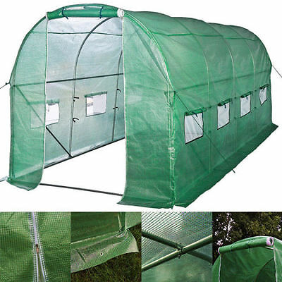 6m x 3m Greenhouse Steel Frame Polytunnel Galvanised Pollytunnel Poly Tunnel
