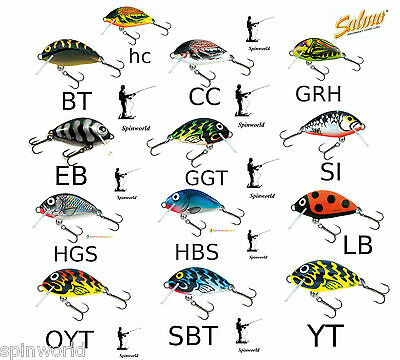 Salmo Tiny wobler floating  sinking variety colours 3cm 2g.  Chub Lure