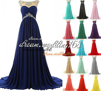 Long Chiffon New Bridesmaid Formal Ball Gown Party Cocktail Evening Prom Dresses