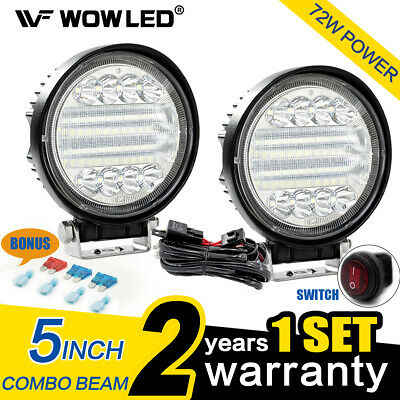WOW - 12 Inch 72W CREE 5D LED Light Bar Combo Beam Offroad Truck Driving Lamp