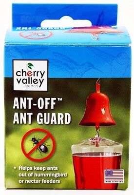 Cherry Valley Hummingbird Feeder Plastic Bell Ant-off Guard Nectar Authentic New