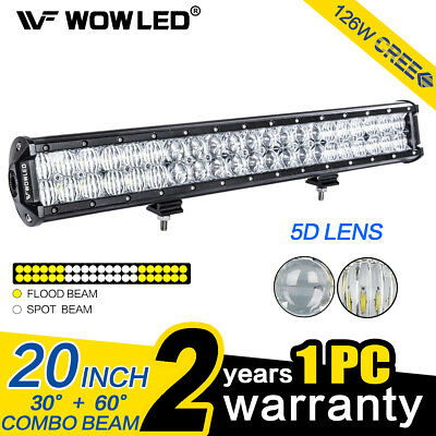 WOW - 20 Inch 126W 5D Lens CREE LED Work Light Lamp Bar Driving Lamp SUV Truck