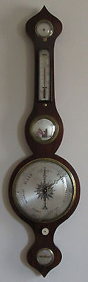 English Wheel Barometer by J. Westley, High St, Soham, Cambs, UK  Ca 1850,