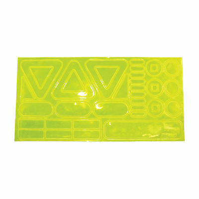 High Visibility Dayglow Reflective Peel Running Cycling Safety Hot Dots Stickers