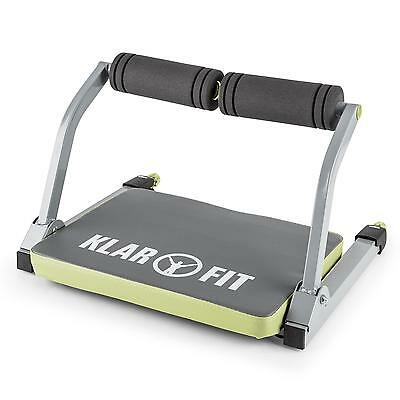 Portable Ab Trainer Cardio Body Workout Excercise Machine Gym Home Crunches Grey