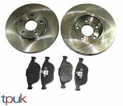 Ford Transit Connect Front Brake Pads And 2 Discs 2002 On Brand New Front Set