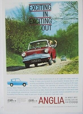 Pack of 15 New Vintage Ad Gallery Postcards: No 26 Ford Anglia 1962