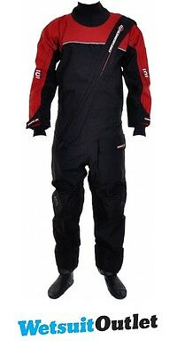 2017 Crewsaver Cirrus Drysuit in Black / RED 6515 - SUIT ONLY