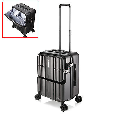 Travel Carry On Luggage Laptop Trolley Bag Universal 4 Wheels Business TSA Lock