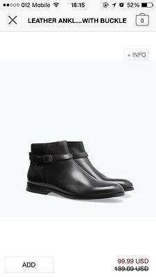6984b3f5 ZARA MEN BLUE Leather Athletic Ankle Boots - $64.99 | PicClick