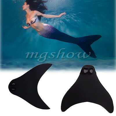 Adult / Kids Girl Mermaid Tail Swimmable Mono Monofin Round / Sharp Fin Flippers