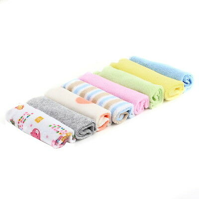 8Pcs Baby Infant Newborn Bath Towel Washcloth Bathing Feeding Wipe Cloth Soft DF