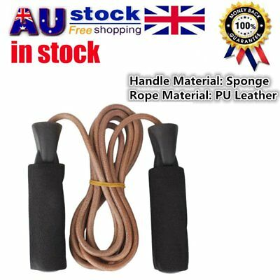 PU Leather Skipping Jump Rope Exercise Fitness For Gym Sport Training DF