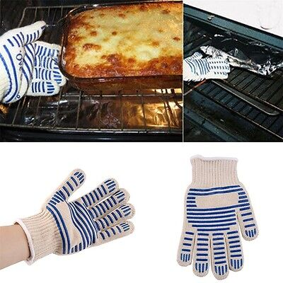 Heat Proof Resistant Cooking Kitchen Oven Mitt Glove For 540F Hot Surface GT DF