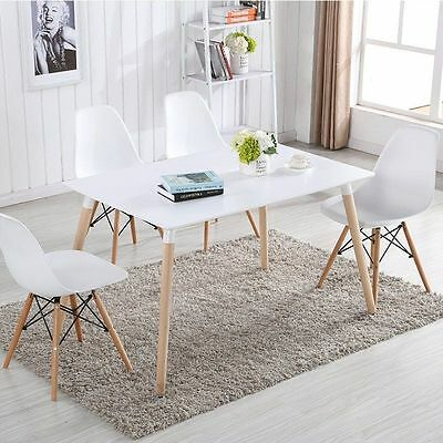 4x New White James Chairs Sinspire Eiffel DSW Retro Lounge Cafe Dining Chairs UK
