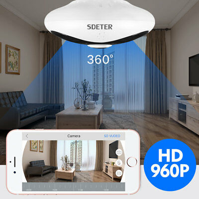 Mini 360 Degree Panoramic Wireless Wifi IP Fisheye Camera Two Way Audio 960P HD