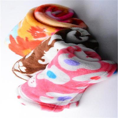 New Print Soft Handcrafted Warm Pet Dog Cat Fleece Blanket Mat Cover Lovely RR