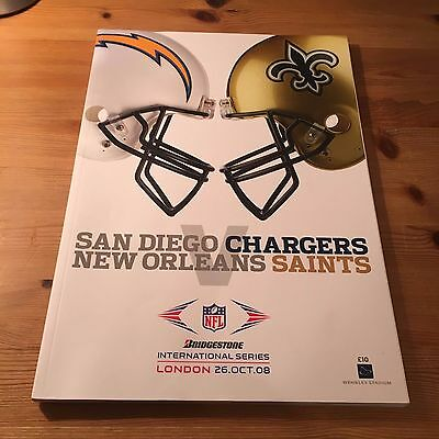 2008 NFL  SAN DIEGO CHARGERS v NEW ORLEANS SAINTS Wembley OFFICIAL PROGRAMME