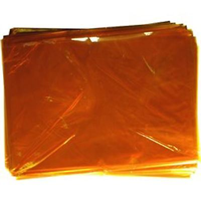 KRAFTZ® Pack of 48 Sheets of Cellophane / film - ORANGE Colour A4 Size