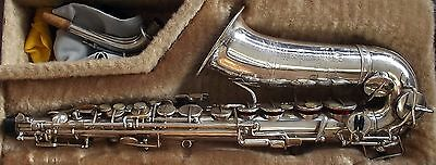 Selmer Model 22 Vintage Alto Saxophone, Silver Plated