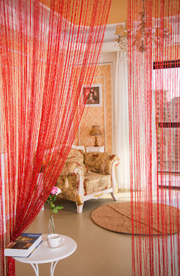 Door Glitter String Curtain Panels Fly Screen Room Divider Voile Net Curtains