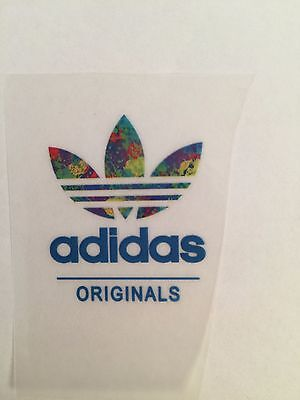 iron on transfer adidas 3x4cm DIY your clothes blue color