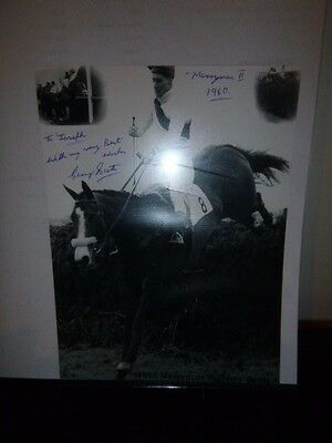 Personally Signed By The Jockey Gerry Scott  Winning The Grand National