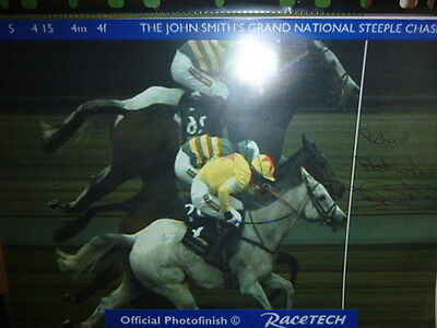 Personally Signed Photo Finish Print Of Neptune Collognes Winning The National