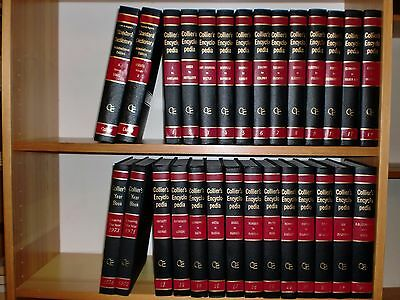 Collier´s Encyclopedia Band 1-24 + 2 Jahrbücher 1971-1974 + 2 Dictionary int. Ed