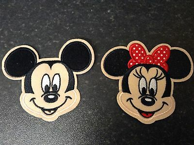 MINNIE AND MICKEY MOUSE EMBROIDERED PATCH BADGE kids character theme