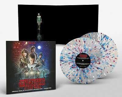 STRANGER THINGS Series 1 Soundtrack Vol2 2xLP Frosted Colour Splatter NEW SEALED