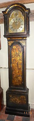 18th Cent Lacquer Cased Longcase Clock