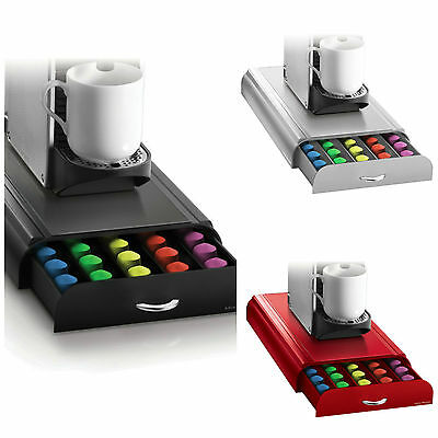 Mind Reader 'Anchor' for 50 Nespresso Capsules, Black, Silver or Red