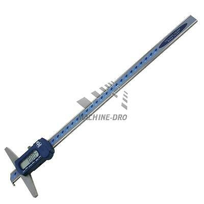 "Digital Depth Gauge 300mm 12"" Moore and Wright Caliper MW170-30 Precision Hook"