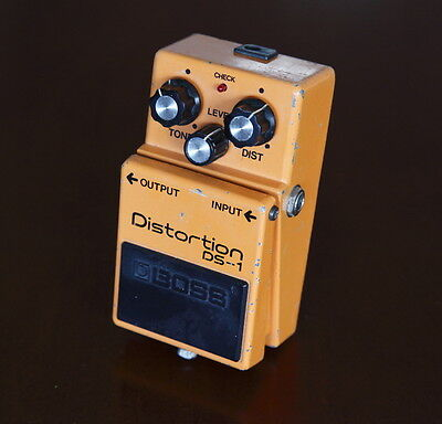 Boss DS-1 Distortion Effect Pedal --  Silver Screw - MIJ - Long Dash --