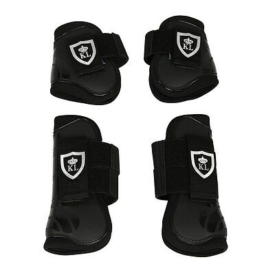 Kingsland Pony Sized Bice Tendon and Fetlock Boots 154-HG-379 - Black