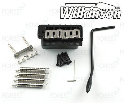 Wilkinson ® guitar tremolo bridge WVPC black finish,steel block steel saddles