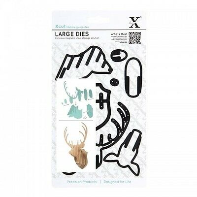 Xcut Large Dies (8pcs) - Christmas In The Country - Stag Head