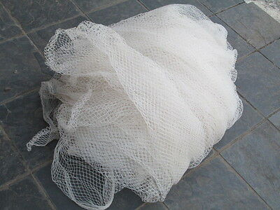 Bird netting roll in white heavy duty used 9 metres by 5.5 metres