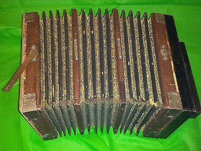 Vintage unknown maker Chromatic Accordion possibly Victorian